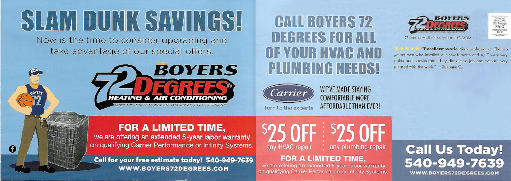 We have a special to help you get your AC running in Staunton VA!